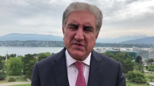 pakistan foreign minister shah mahmood qureshi speaks to the press during an exclusive interview in geneva on september 12 2019 saying that attempts... - assertiveness stock videos & royalty-free footage