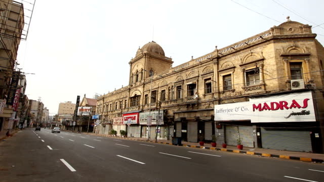 pakistan: old building karachi - karachi stock videos and b-roll footage