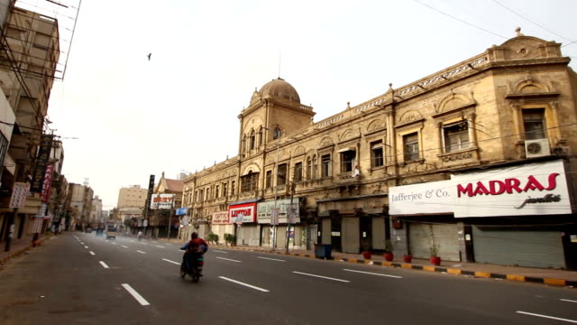 pakistan: old building karachi - sindh pakistan stock videos and b-roll footage