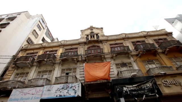 pakistan: old building karachi - karachi stock videos & royalty-free footage
