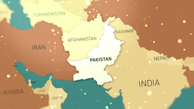 pakistan on world map stock video - pakistan stock videos & royalty-free footage