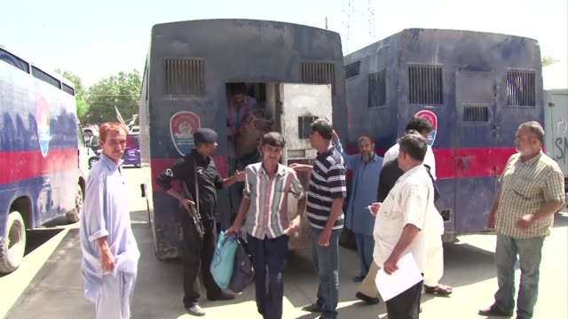 pakistan releases 86 indian fishermen held for trespassing into its territorial waters the second batch freed this month - trespassing stock videos & royalty-free footage
