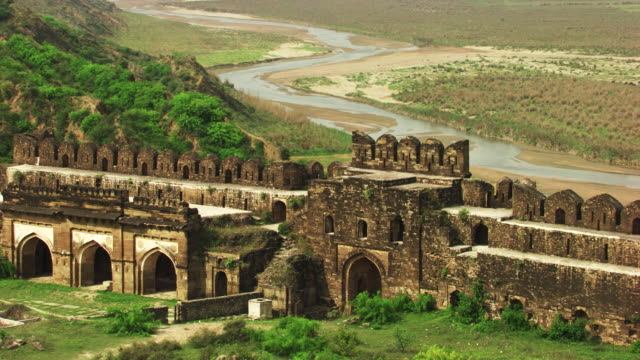 pakistan : rothas a old fortified city - fortress stock videos and b-roll footage