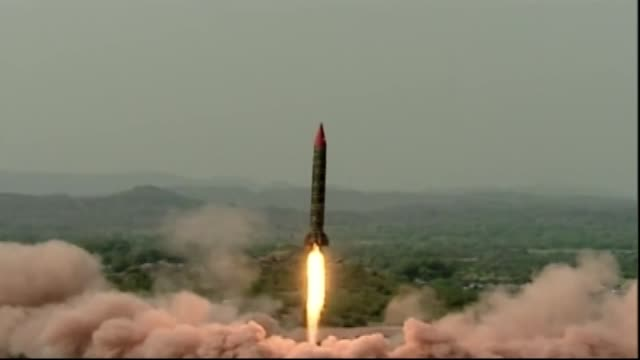 pakistan successfully test fired the mediumrange ballistic missile ghauri which is capable of carrying both conventional and nuclear warheads up to a... - missile stock videos & royalty-free footage