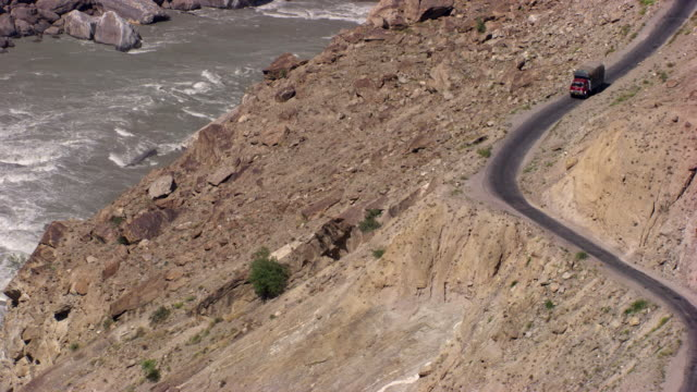 pakistan: truck driving through the hunza valley - pakistan stock videos & royalty-free footage
