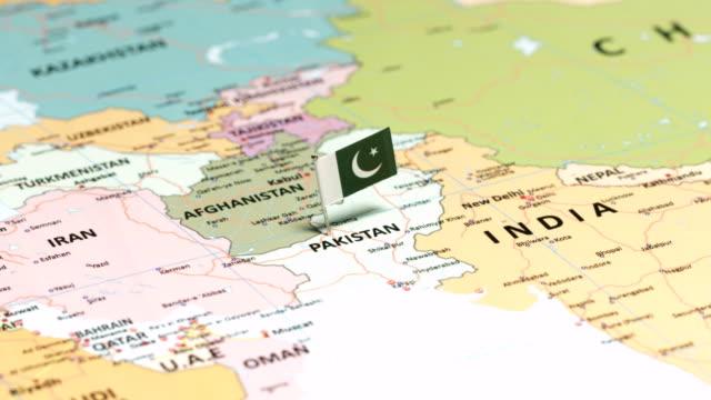 pakistan with national flag - pakistani flag stock videos & royalty-free footage