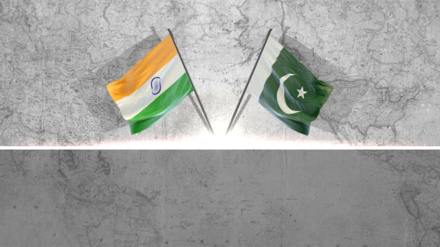 pakistani and indian flags - indian flag stock videos & royalty-free footage