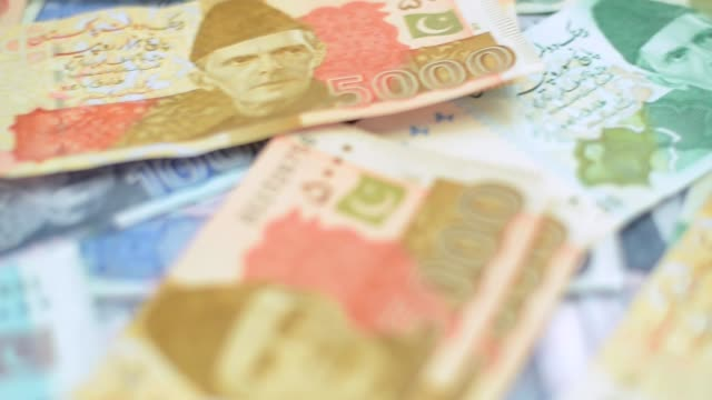 pakistani currency notes - currency symbol stock videos & royalty-free footage