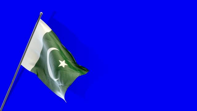 pakistani flag rising - pakistani flag stock videos & royalty-free footage