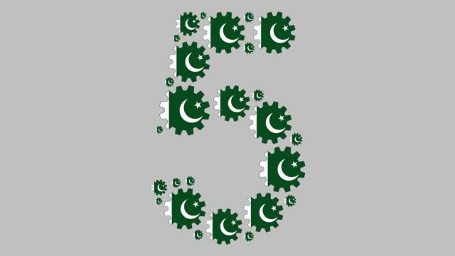 pakistani number five - pakistani flag stock videos & royalty-free footage