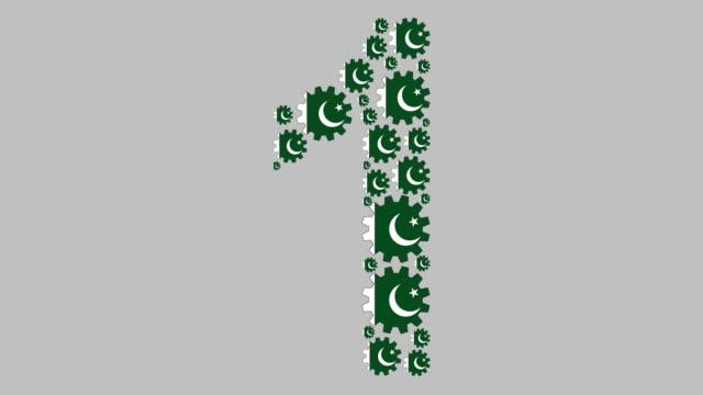 pakistani number one - pakistani flag stock videos & royalty-free footage
