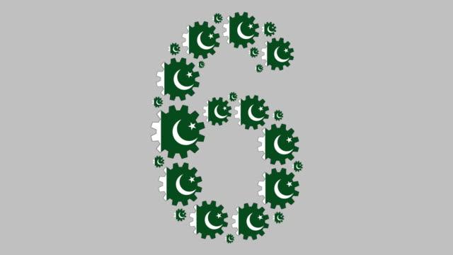 pakistani number six - pakistani flag stock videos & royalty-free footage