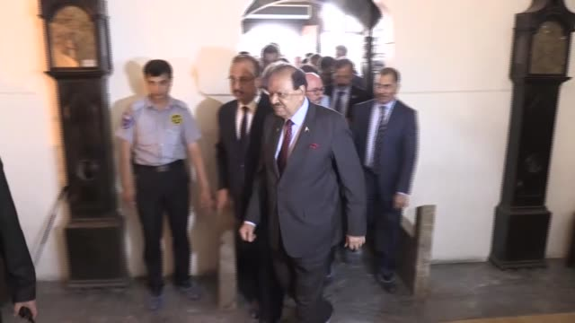 pakistani president mamnoon hussain has visited the memorial museum and tomb of 13thcentury poet mevlana jalal addin rumi tuesday he visited the... - konya stock videos and b-roll footage