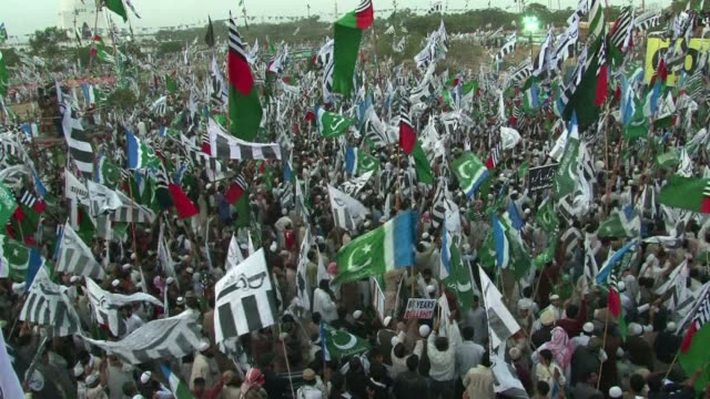 pakistani rightwing religious parties that include radical groups banned as terror organizations abroad gathered in karachi on sunday to demand the... - cut video transition stock videos and b-roll footage