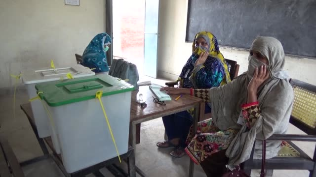 pakistani women who had pledged to defy men in their village by voting for the first time ultimately did not exercise their democratic right in the... - multan stock videos and b-roll footage