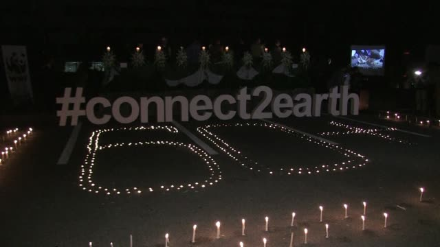 pakistan's capital islamabad marks the thirteenth edition of earth hour to raise awareness about energy use and the planet's vanishing biodiversity - earth hour stock videos & royalty-free footage
