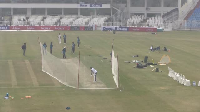 pakistan's captain azhar ali thanks sri lanka tuesday for returning to pakistan for the first test tour there in a decade after a fatal militant... - test cricket stock videos & royalty-free footage