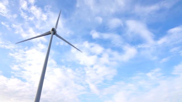 pala eolica su cielo azzurro