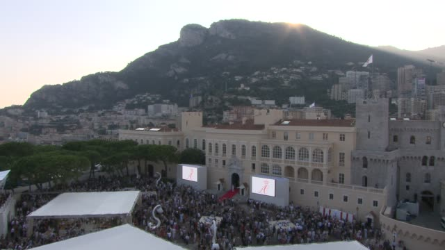 first appearance of married couple at monaco - royal palace monaco stock videos and b-roll footage