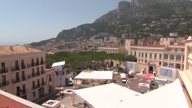 preparations at monaco - royal palace monaco stock videos and b-roll footage