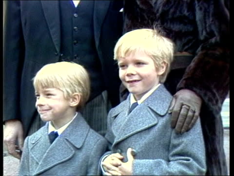 "palace awards; england: london: buckingham palace robin day poses with wife and sons zoom in cms sons sir robin day : sof: ""oh only a morning --... - robin day stock videos & royalty-free footage"