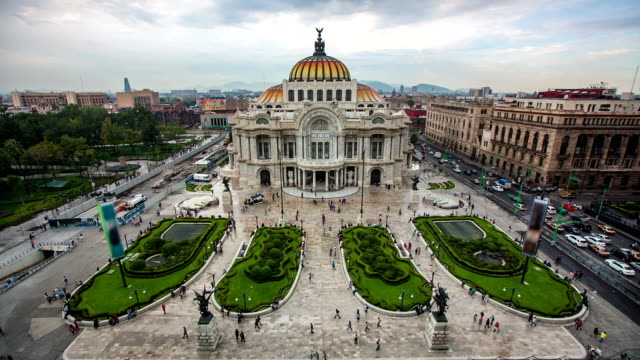 palace bellas artes mexico city - palacio stock videos & royalty-free footage
