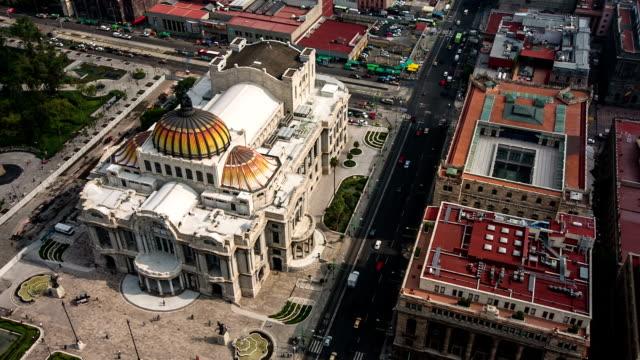 palast der schönen künste in mexiko-stadt - mexico city stock-videos und b-roll-filmmaterial