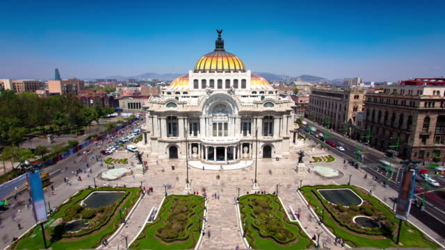 stockvideo's en b-roll-footage met time lapse: palace bellas artes - gevel