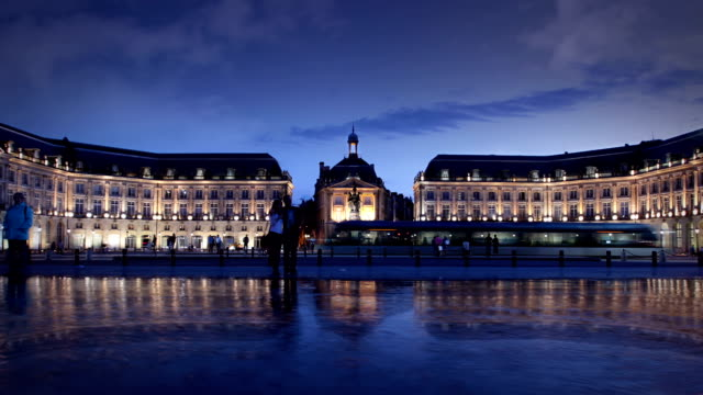 palace de la bourse, bordeaux, france - wine stock videos & royalty-free footage