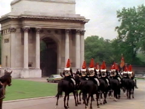 palace guards on horseback - honour guard stock videos & royalty-free footage