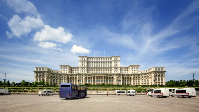 palace of parliament in bucharest - palace stock videos & royalty-free footage