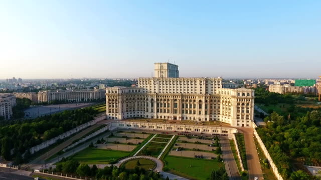 palace of the parliament aerial - romania stock videos & royalty-free footage