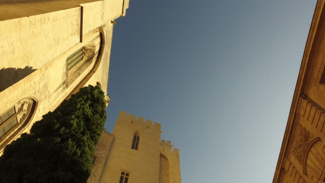 palace of the popes in avignon - palace stock videos & royalty-free footage