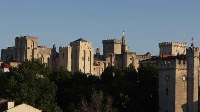 palace of the popes in avignon - palacio stock videos & royalty-free footage