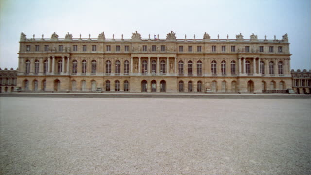 ws, td, palace of versailles, france - palacio stock videos & royalty-free footage