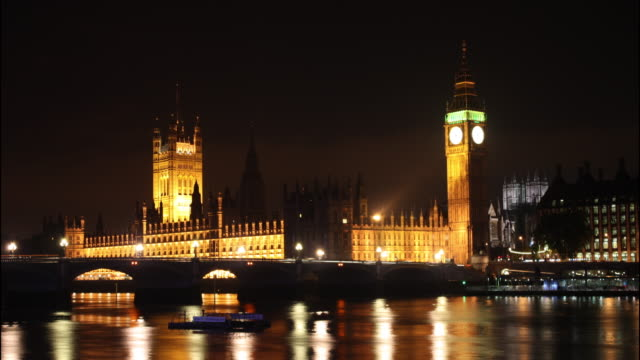 Palace of Westminster, Big Ben and Westminster bridge, London, England
