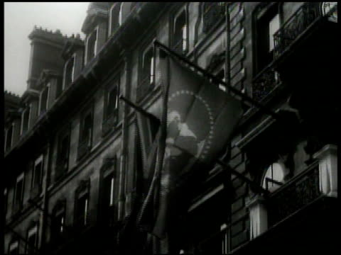 palace of westminster london ms british league of nations flag on building cu plaque 'league of nations union' int ms league president viscount cecil... - 1935 stock videos and b-roll footage