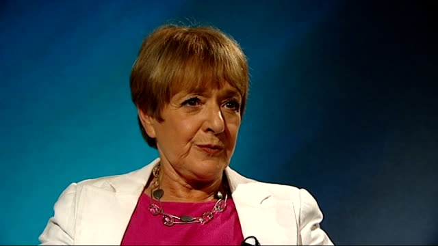 palace plans freeze on jobs in royal household england london int margaret hodge mp interview sot - マーガレット・ホッジ点の映像素材/bロール