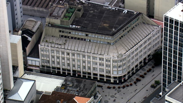 vídeos de stock, filmes e b-roll de palacio avenida-vista aérea-paraná, curitiba, brasil - palace