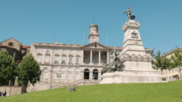 Palacio da Bolsa or Stock Exchange Building In Porto