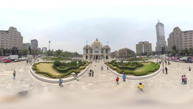 palacio de bellas artes in mexico city downtown - torre latinoamericana stock videos & royalty-free footage