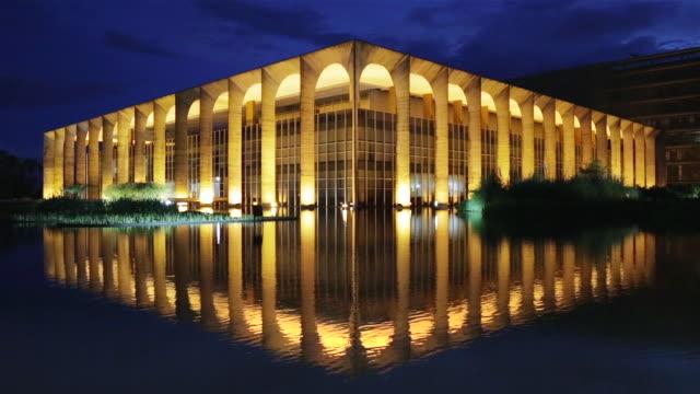 ms palacio itamaraty / itamaraty palace at dusk / brasilia, brazil - oscar niemeyer stock videos and b-roll footage