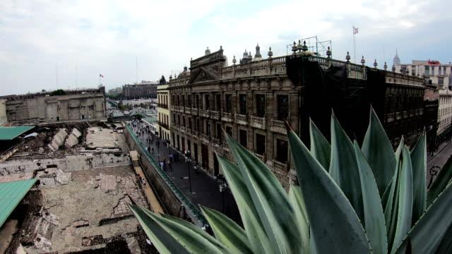 palacio nacional at zocalo square, mexico city - zocalo mexico city stock videos & royalty-free footage