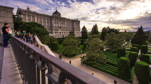 palacio real, madrid - motion timelapse - palace stock videos & royalty-free footage