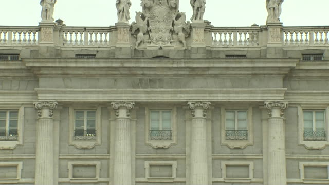 palacio real madrid. - palace stock videos & royalty-free footage