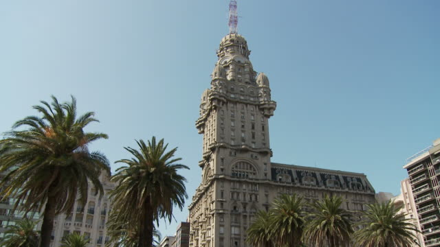 a palacio salvo, uruguay - montevideo stock videos and b-roll footage