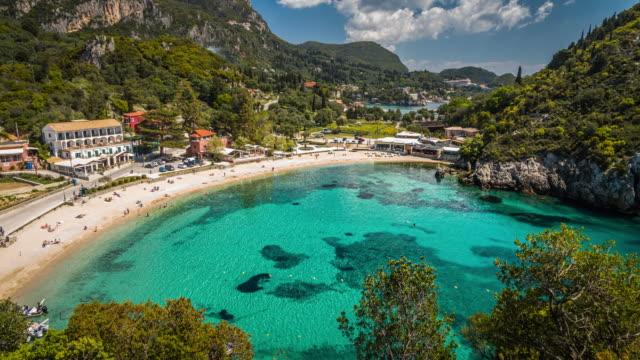 palaiokastritsa beach - idyllic stock videos & royalty-free footage