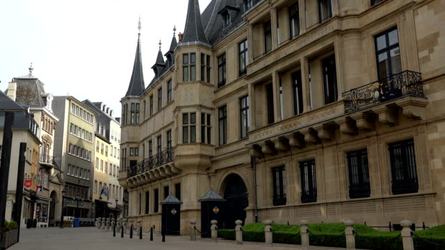 palais grand-ducal, luxembourg city, luxembourg - luxembourg benelux stock videos & royalty-free footage