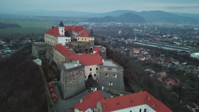 palanok castle - ukraine stock videos & royalty-free footage
