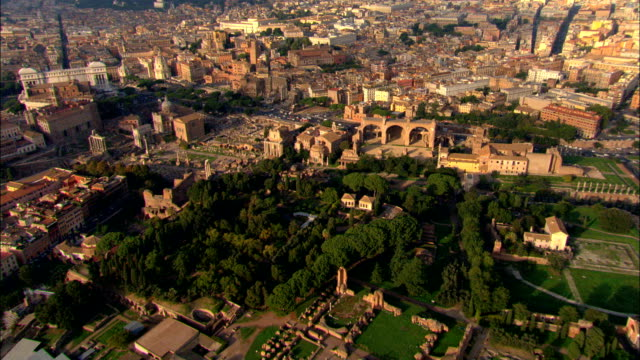 palatine hill  - aerial view - latium, rome, italy - rome italy stock videos & royalty-free footage